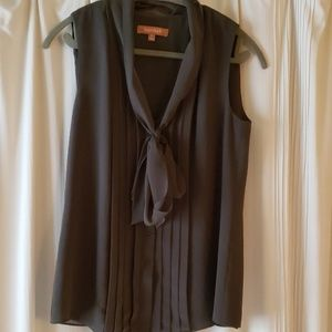 Beautiful moss green scarf tie blouse